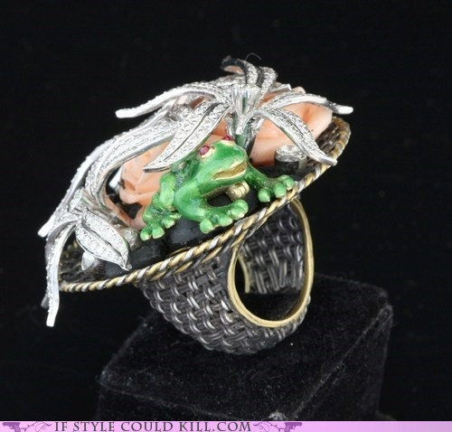 cool accessories frogs ring of the day rings - 6356327168
