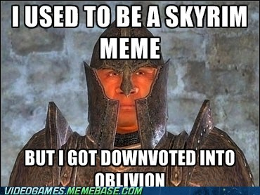 arrow to the knee,meme,oblivion,Skyrim