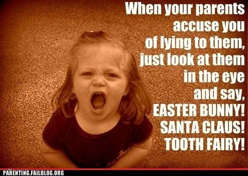Easter Bunny lying santa clause tooth fairy - 6356662528