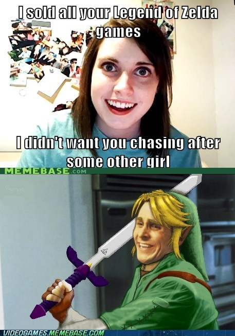 master sword,meme,overly attached girlfrien,overly attached girlfriend,zelda