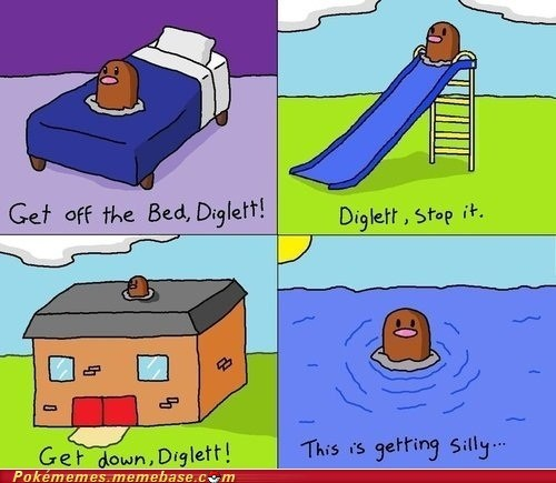 bed comic diglett diglett wednesday meme - 6356706816