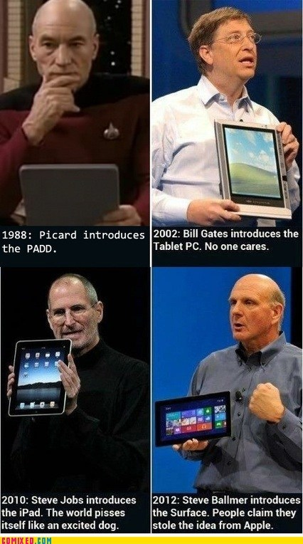 best of week,Bill Gates,ipad,Memes,microsoft surface,Star Trek,steve jobs,tablets,the internets