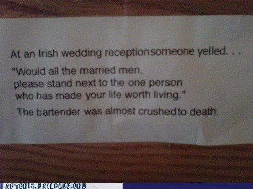 bartender,Hall of Fame,irish wedding,marriage,married men,wedding,wedding reception