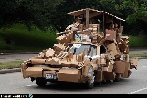cardboard,cardboard tank