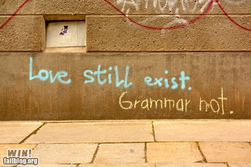 correction,graffiti,grammar,hacked irl,Street Art