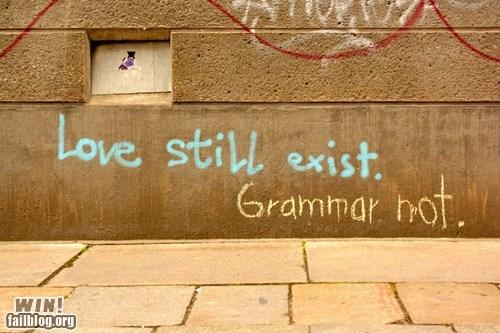 correction graffiti grammar hacked irl Street Art - 6356872960