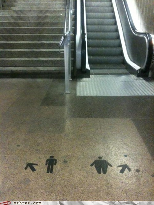 escalator,fat people,obese,obesity,overweight,stairs