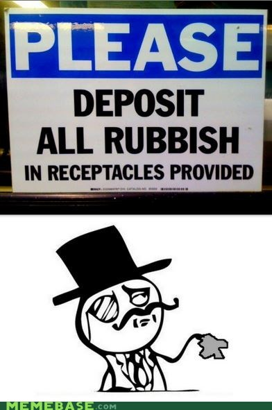 deposit sir receptacles rubbish