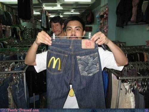 jeans,knockoff,McDonald's,pants