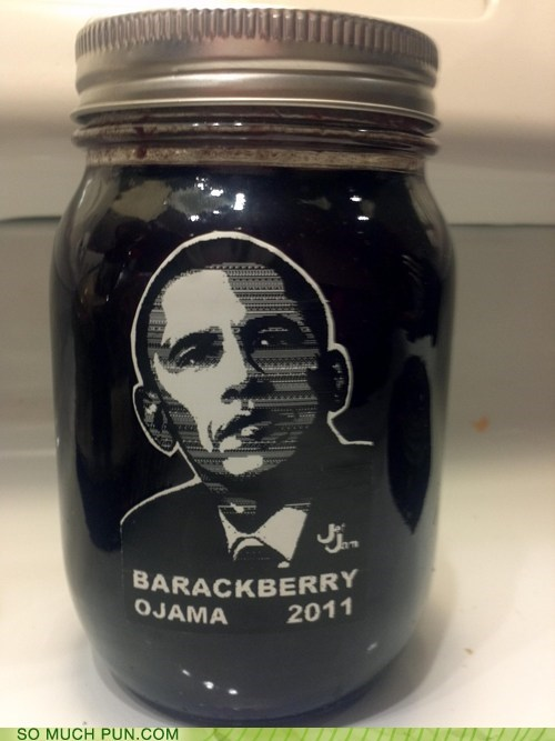 barack obama,blackberry,jam,letter swap,obama,similar sounding