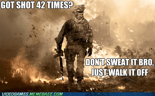 call of duty logic meme regenerating health walk it off - 6357441536