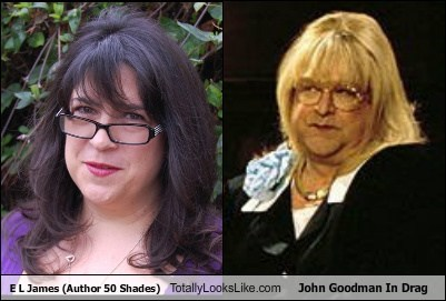E L James (Author 50 Shades) Totally Looks Like John Goodman In Drag