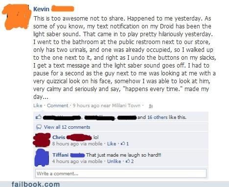 bathroom failbook Featured Fail g rated lightsaber peeing phone star wars story - 6357944576