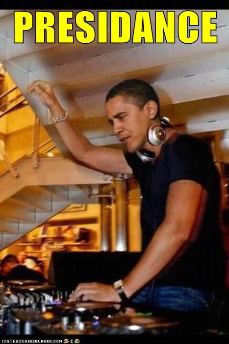 barack obama,dance,dj,political pictures