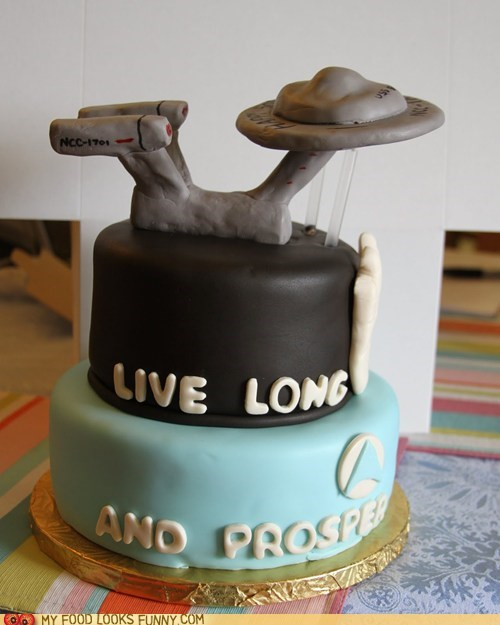 cake enterprise fondant Star Trek wedding