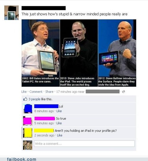 apple,Bill Gates,ipad,microsoft,microsoft surface,steve ballmer,steve jobs,surface
