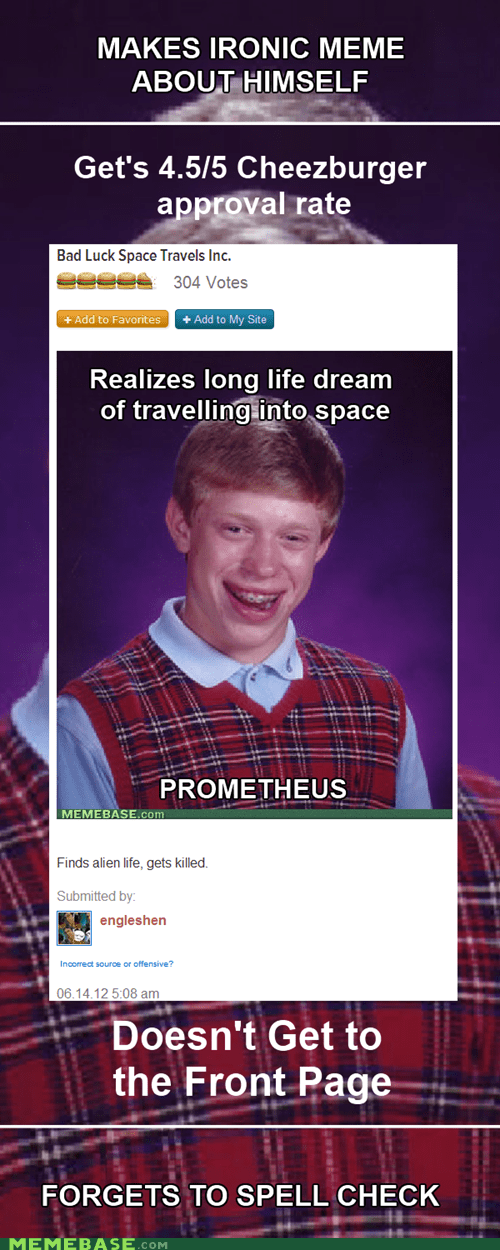 bad luck brian cheezburger Memes meta vote page wat - 6358248960