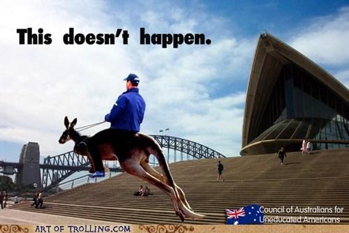 america f yeah australia kangaroo