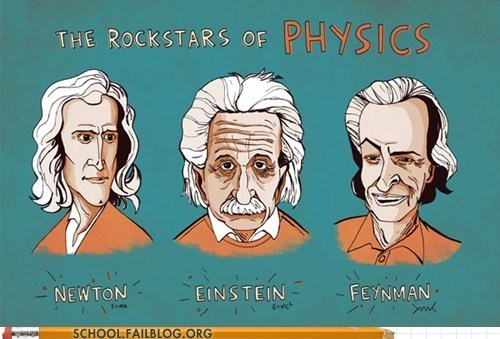 einstein,feynman,Newton,physic,rock stars