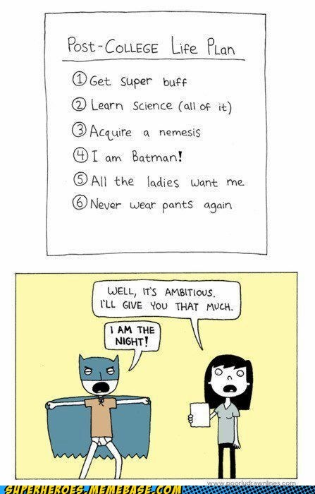 Awesome Art batman college life science - 6358970624