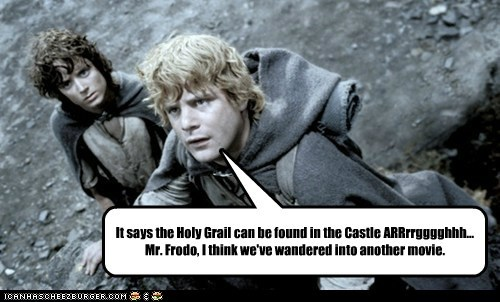 It says the Holy Grail can be found in the Castle ARRrrgggghhh... Mr. Frodo, I think we've wandered into another movie.