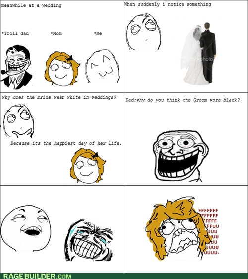 black fu gal Rage Comics weddings white
