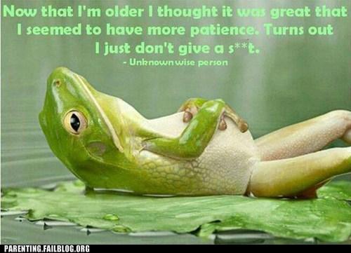 frog,older,patience