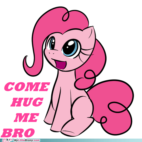 bro cute hug pinkie pie - 6359310080
