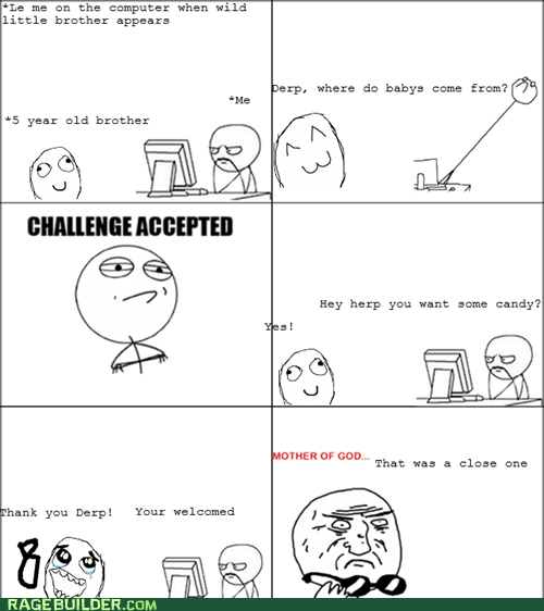 Babies Challenge Accepted mother of god Rage Comics - 6359344640
