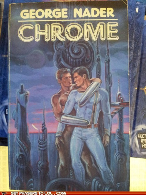 book covers books chrome cover art gay science fiction wtf