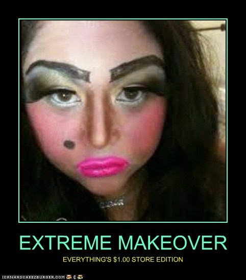 dollar store extreme makeover makeup TV weird kid - 6359624960