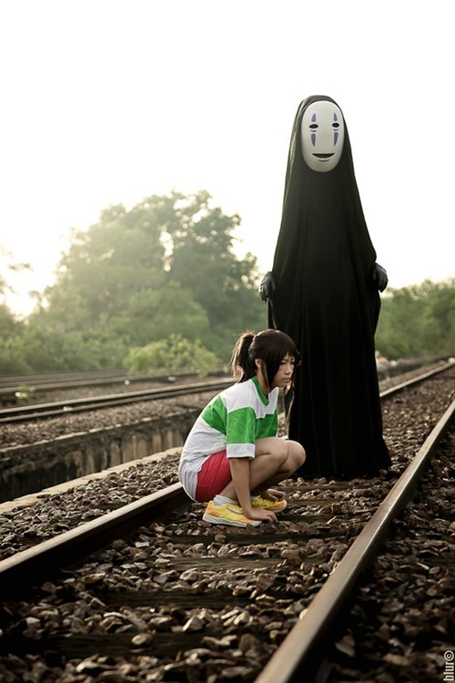 anime,cosplay,miyazaki,movies,no face,spirited away,studio ghibli