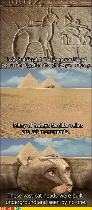 Cats,egyptians,lolcats,pyramid,the internets,true facts