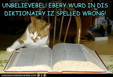 dictionary FAIL lolcat lolspeak read spelling wrong