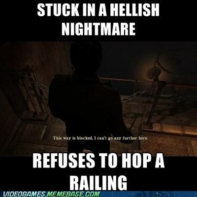 logic meme nightmare railing silent hill - 6359920640