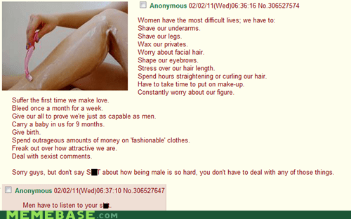 4chan legs Memes men shaving women - 6359925760