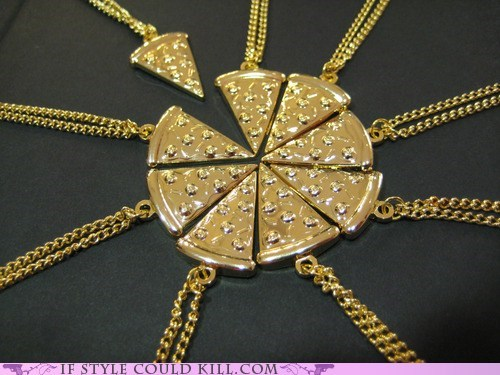 cool accessories food necklaces pizza - 6359970816