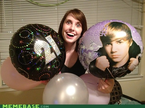 Balloons,birthday,justin bieber,Memes,overly attached girlfrien,overly attached girlfriend