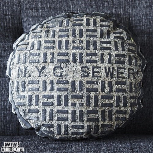 clever design manhole Pillow pillow case - 6360216064