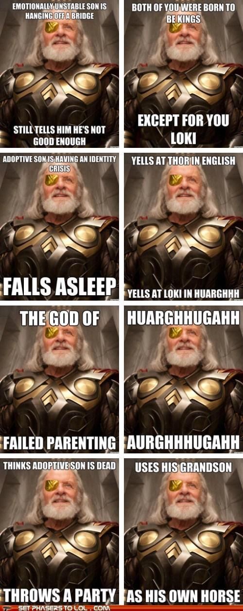 best of the week loki meme odin terrible Thor - 6360331776
