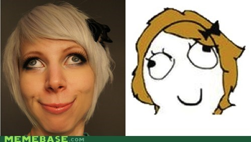 derpina faces IRL Rage Comics