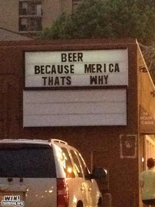 america,bar,beer,fourth of july,independence day,merica,sign