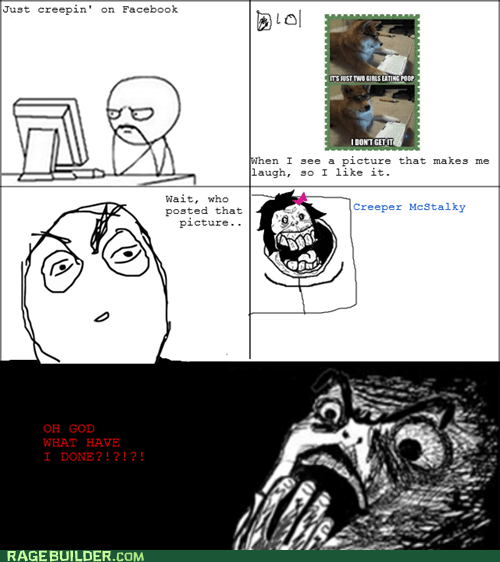 creeper,facebook,Rage Comics,raisin horror