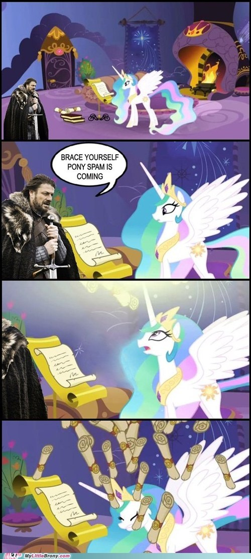 brace yourselves,celestia,comic,comics,spam