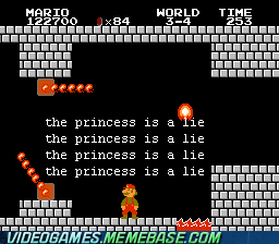 mario,Portal,princess,super mario,the cake is a lie