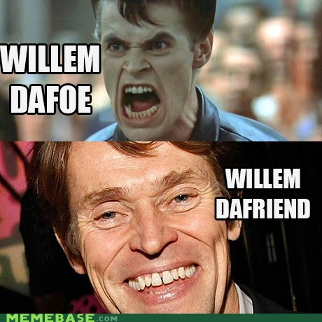 friend,How People View,How People View Me,puns,Willem Dafoe