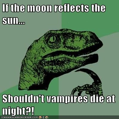 moon night philosoraptor reflection sun vampires - 6362292736