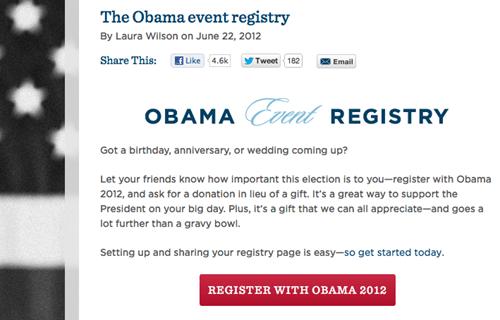 obama event registry wedding registry - 6362443008