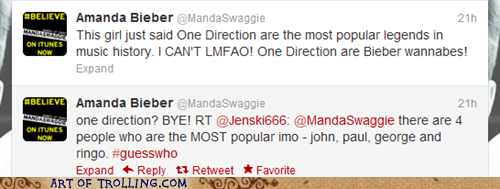 amanda bieber one direction the Beatles - 6362640384