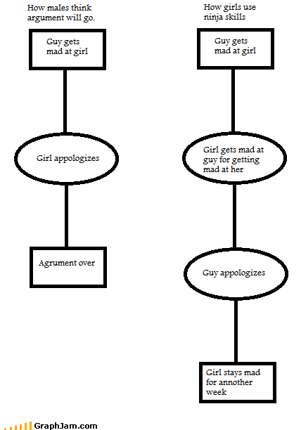 angry arguement best of week flow chart girls guys Memes - 6363624448